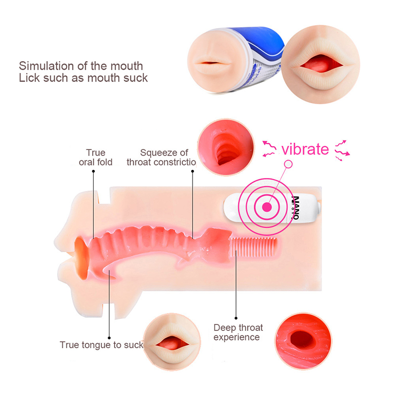 Masturbator Cup Pocket,Pussy Vagina/Oral/Anal Type Sex Toys For Man Soft Silicone Adult Sex Products Telescopic Folder Suction