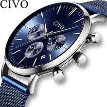 38f06b03435 CIVO Chronograph Relógios Dos Homens de Luxo 2019 Novo Esporte Negócios  Masculino Relógio À Prova D  Água Relógios de Quartzo Re.
