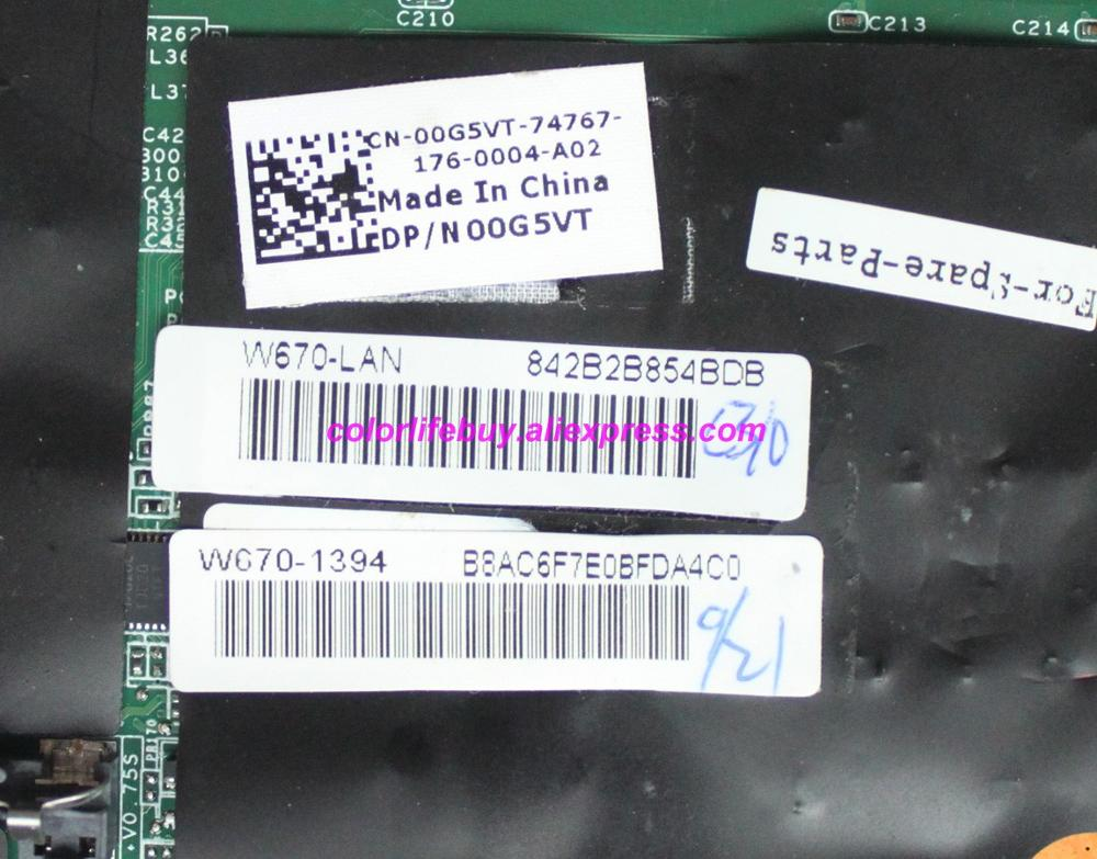 Genuine 0G5VT 00G5VT CN 00G5VT HM55 DDR3 Laptop Motherboard Mainboard for Dell Alienware M15X R2 Notebook PC in Laptop Motherboard from Computer Office