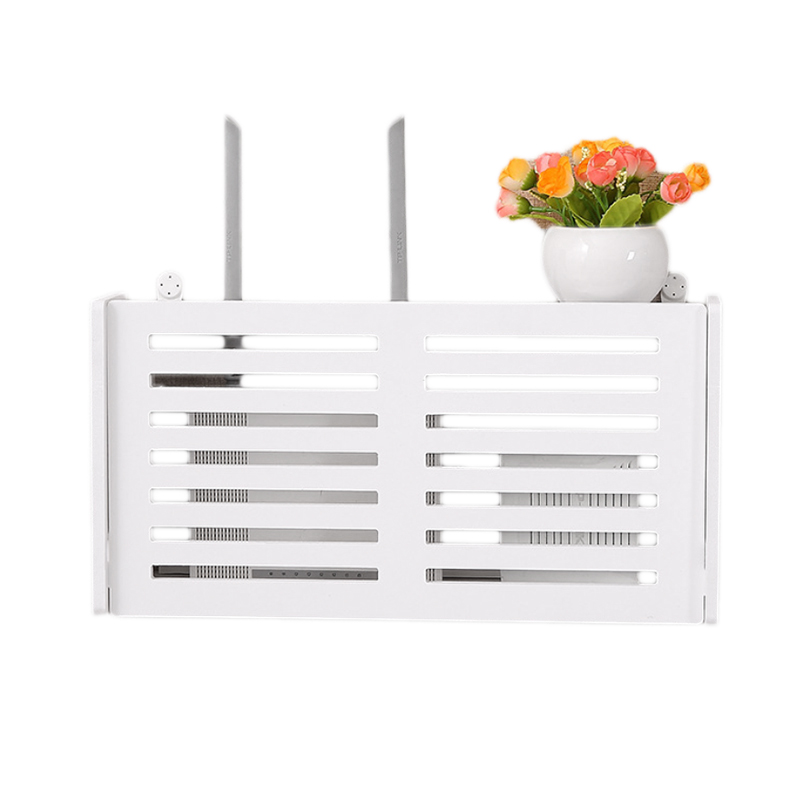Home Decor Storage Boxes: JEYL Wireless Wifi Router Storage Box Wood Plastic Shelf