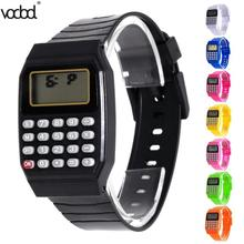Children Kids Date Multi-Purpose Calculator Silicone Wrist Watch Kids Date Month Time Display Mini Calculator Mathematics Suppl children kids date multi purpose calculator silicone wrist watch kids date month time display mini calculator mathematics suppl