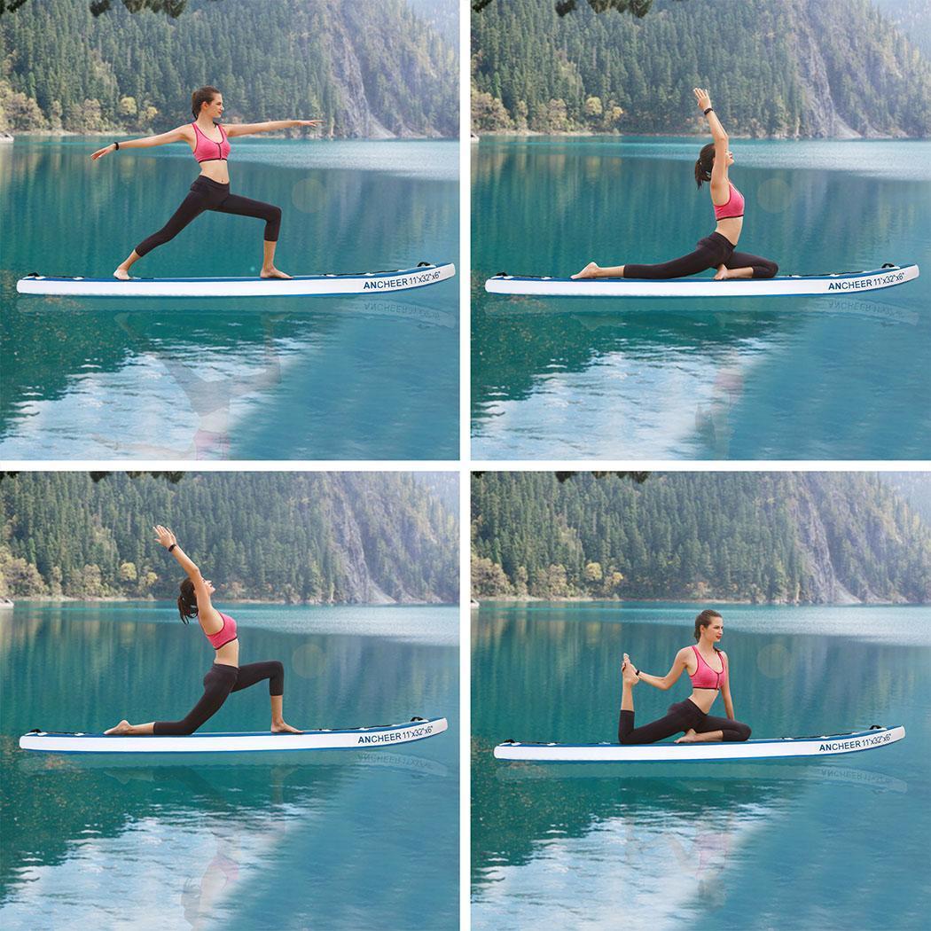 Double-couche Planche de Surf Tout usage Réglable Stand Up Paddle Gonflable 1000D Brossé Planche De Surf Paddle Board 330x80x18 cm - 4