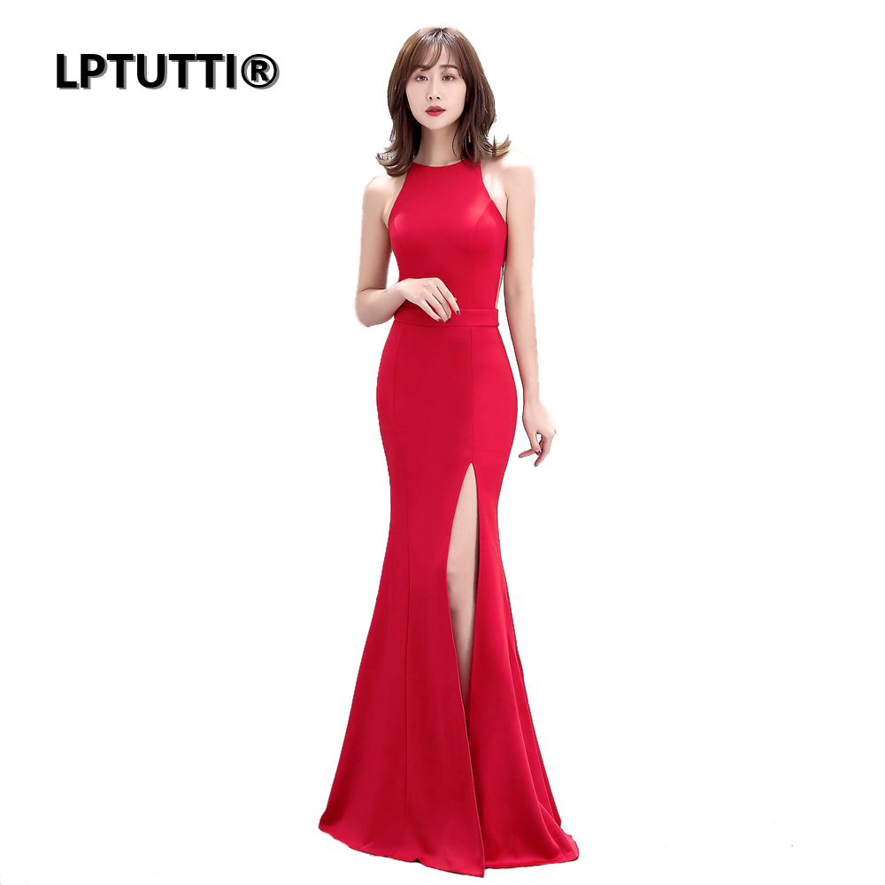 LPTUTTI O-Neck Chiffon New For Women Elegant Gown Date Ceremony Party Prom Formal Gala Luxury Long   Evening     Dress