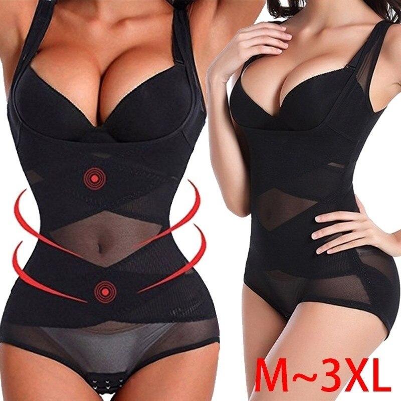 Women Push Up Bra Shaper Close Skin Full Body Waist Trainer Breathable Shapers Underbust Corset Cincher Nightwear Bodysuit