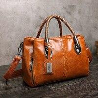 2019 Spring Vintage Genuine Leather Luxury Handbags Women Bags Designer Famous Brands Tote Shoulder Bag Female Bolsa Feminina