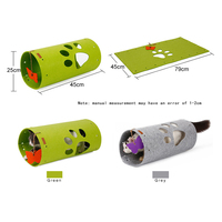 Doglemi Diy Natural Felt Cats Tunnel Mat Combination Stitching Folding Cat Play Channel Roll Dragon Dragon Puzzle Cat Toy Pet