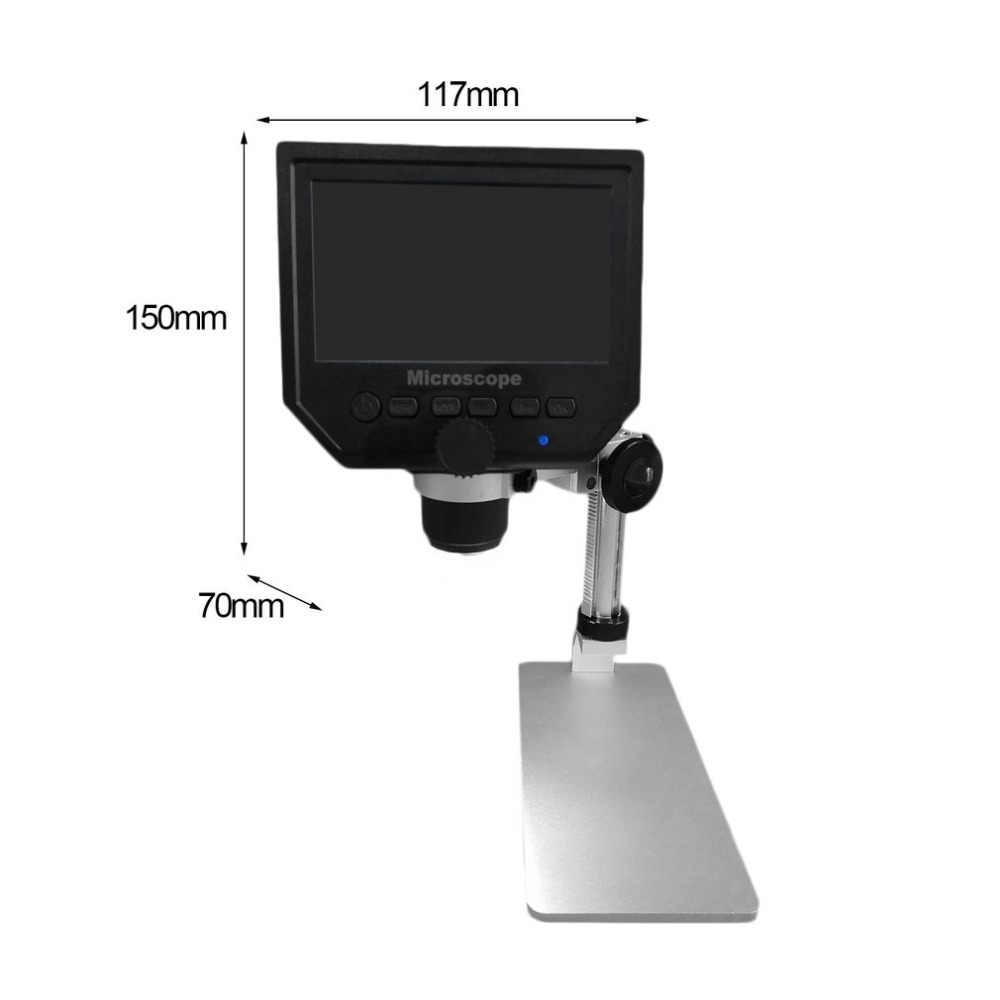 Microscope numérique 600X mutabouret G600 3.6MP 4.3 pouces écran LCD HD loupe continue avec support en alliage d'aluminium Version de mise à niveau