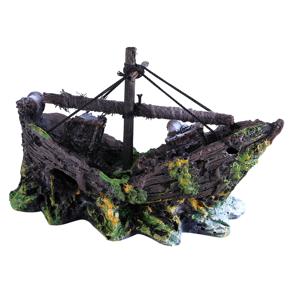 Aquarium Accessories Pirate Ship Aquarium Decoration Boat