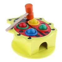 Wooden Hammering Ball Toys Color Sensory Montessori Early Learning Educational Toys Birthday Gift for Children Toddler Kids