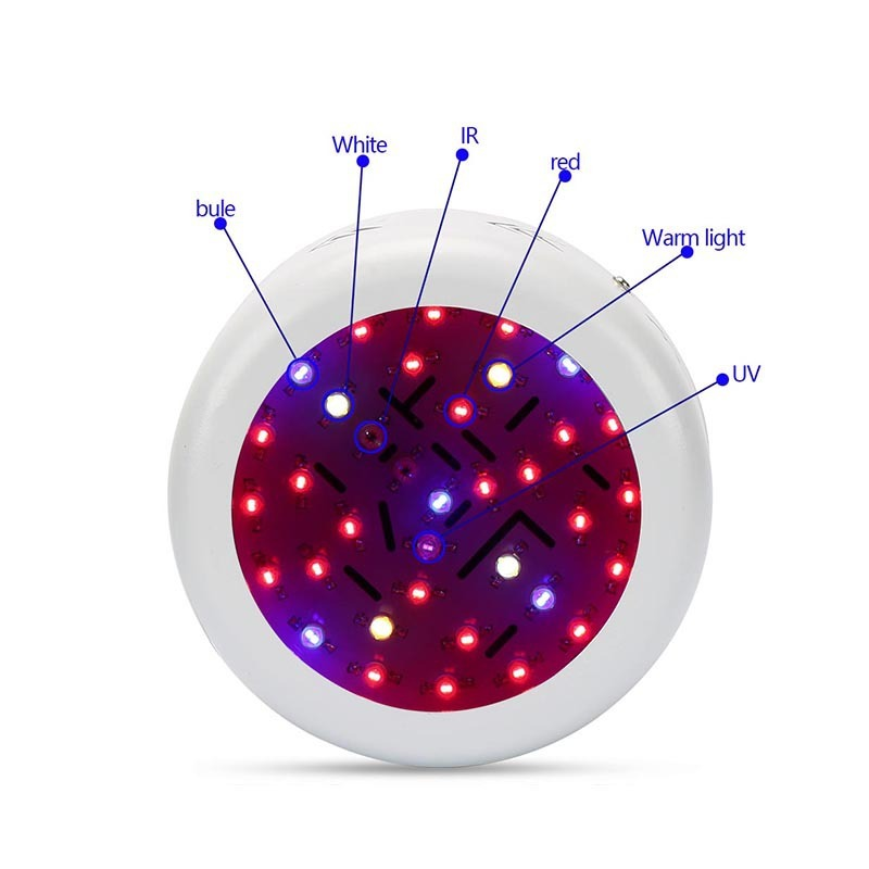 360W UFO Double Chip LED Grow Light Full Spectrum 410 730nm Red/Blue/UV/IR For Indoor Plants AC85 265V With UK/US/AU/EU Plug