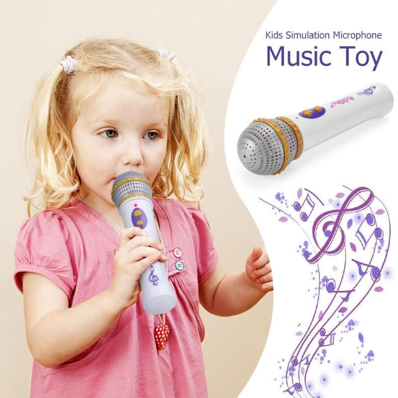 2018 Kids Simulation Microphone Children Black Modern Microphone Mic Karaoke Singing Girls Funny Toys Boys Music Toy Gift
