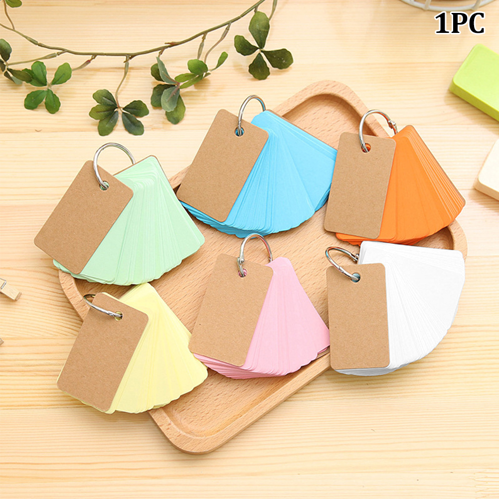 1Pc Mini Creative Buckle Loose-Leaf Notebook Portable Reciting Notepad Vocabulary Stationery School Supply #15