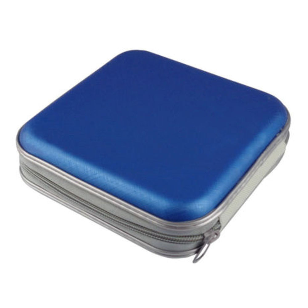 40 Disc Box Water Resistant Bag Portable CD DVD Organizer Wallet Case Plastic(China)