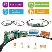 f935952adeb Tren de Navidad luces LED música suena vehículos de juguete cognitivo  interactivo juguetes de Navidad decoración
