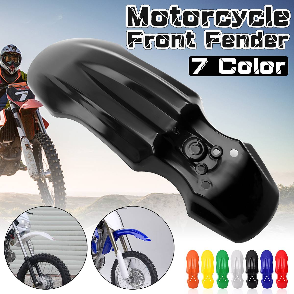 6 Colors New Unversial Front Wheel Mug Mudguard Motorcycle Front For Fender Protector Extension For HONDA CRF50 Dirt Pit Bike