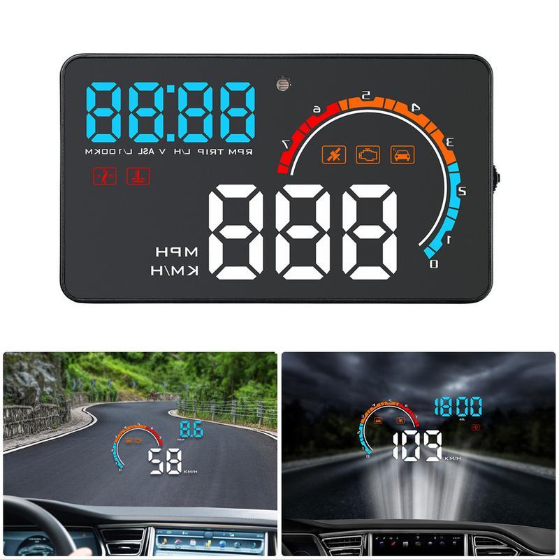 D2500 HUD OBD2 + GPS Head Up Display Voiture-style Affichage Hud Survitesse Avertissement Pare-Brise Système alarme de projecteur Universel Auto