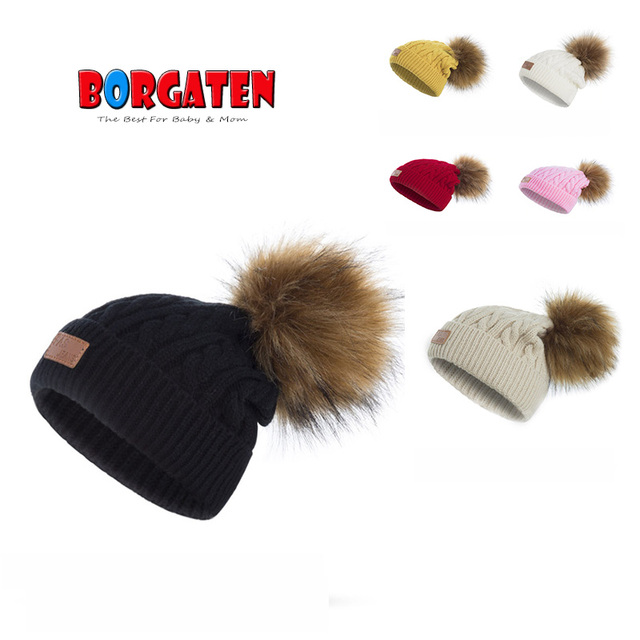 8040689495646 Baby Winter Hat Pom Pom Hats Crochet Beanie for Kids Toddler Girl Boy  Bonnet Newborn Photography Props Christmas Gift Soft Cute-in Hats   Caps  from Mother ...