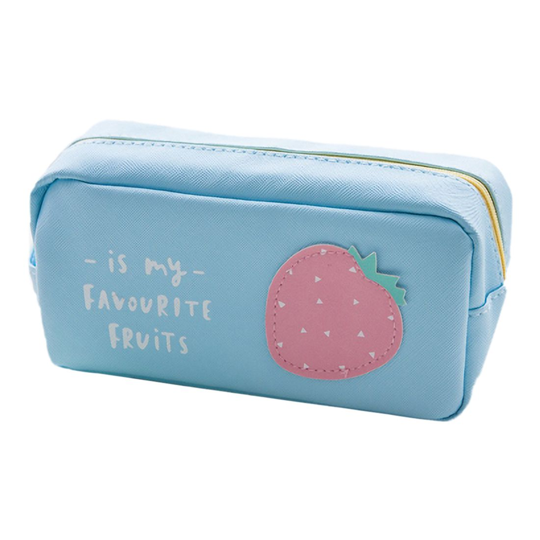 Creative Simple And Lovely Fruit Pencil Case Male And Female Junior High School Students Small Fresh Large Capacity Stationery