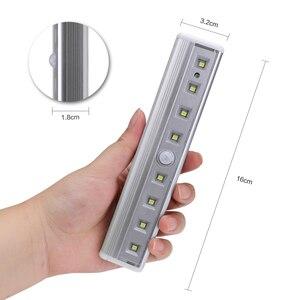 Image 2 - Luz super brilhante de led, 8 * smd para barra de sensor de ímã para gabinete, guarda roupa, bateria, sensor de movimento pir, luz led noturna luz clara