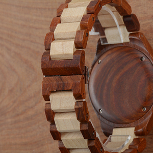 Image 5 - Wooden Lover Couple Watches Luxury Dual Clocks As Gift For Sweetheart Friends With Calendar Luminous Two Watches BEWELL 100BC