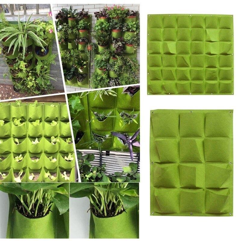 Wall Hanging Planting Bags 4/9/18/49/72 Pockets Green LIght Grow Bag Planter Vertical Garden Vegetable Living Bag Home Supplies