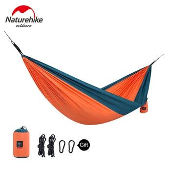 Naturehike 1-2 Persons Ultralight Single Double Camping Hammock Outdoor Hammock Swings Hanging Tent Portable Sleeping Bed 6