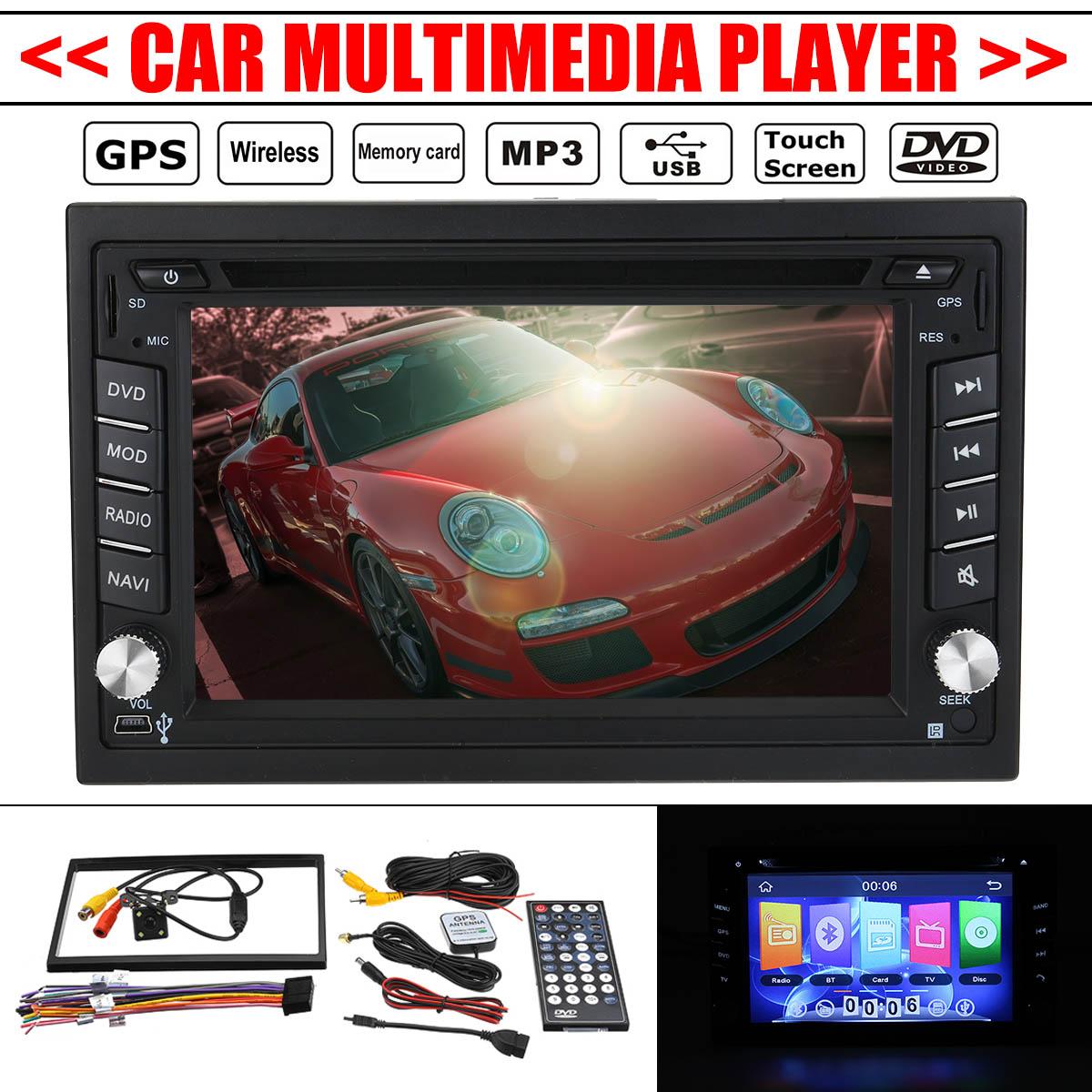 2Din 6.2 pouces voiture Audio Double stéréo Radio multimédia bluetooth GPS Navigation HD USB TV caméra TFT télécommande jusqu'à 32 go