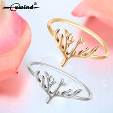 Cxwind Gold Silver Midi Tree Ring Handmade Vintage Engagement Wedding Jewelry Charm Family Tree Branch Rings For Women Baby Gift(China)