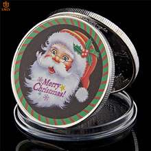 2018 Santa Claus Ddeer Silver Plated Coin  Value Collectible Ornaments For Christmas Gifts And Holiday Decorations