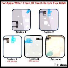 FaiShao כוח 3D מגע חיישן Flex כבל עבור Apple שעון סדרת 1 2 3 4 הכבידה אינדוקציה תחושה סליל 38mm 42mm 40mm 44mm