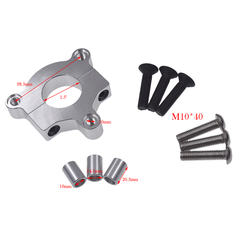 """Details about  /Silver 1.5/"""" 1/"""" CNC Adapter For 49cc 50cc 66cc 80cc 2 Stroke Motorized Bicycle"""