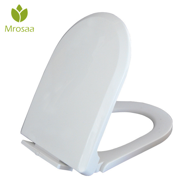 U Type Replacement Slow-Close Toilet Seat Lid Set White Household Antibacterial Quick Release Bathroom Toilet Seats Cover PlateU Type Replacement Slow-Close Toilet Seat Lid Set White Household Antibacterial Quick Release Bathroom Toilet Seats Cover Plate