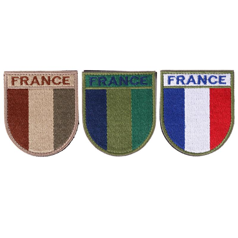 Embroidered France flag patch hook back tactical morale patches