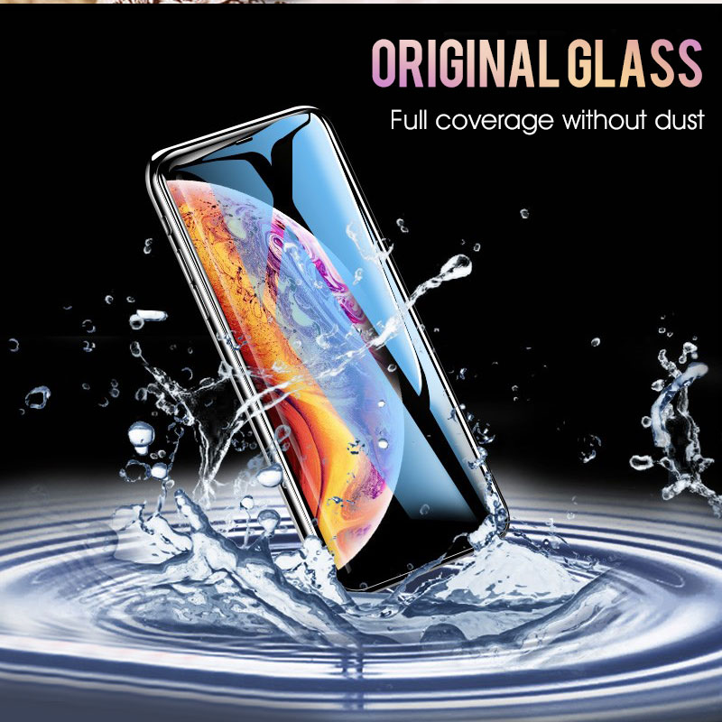 Image 4 - 30D Protective Glass on the For iPhone X XS Max XR Tempered Screen Protector Curved Edge Glass 11 Pro XR XS Max Full Cover Glass-in Phone Screen Protectors from Cellphones & Telecommunications