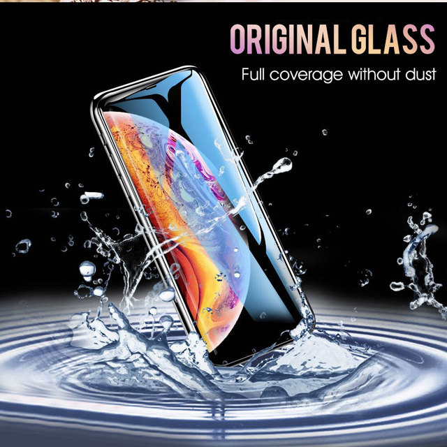 30D Protective Glass on the For iPhone X XS Max XR Tempered Screen Protector Film Curved Edge Glass XR XS Max Full Cover Glass 3
