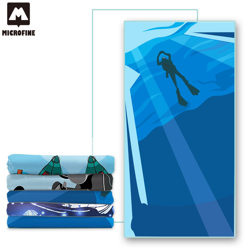 Microfine Microfiber Beach Towel 100x180 Swimming Pool Towels Kids Large Sand Free Beach Mat Luxury Towels Sea Summer Sport 2018