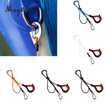 Heavy Duty Stretch Universal Kayak Canoe SUP Paddle Leash Fishing Rod Bungee Safe Tether Rope & Carabiner Hook Gear Accessories kayak canoe elastic bungee shock cord with hook lanyard fishing rod surfboard paddle safety leash ropes rowing boats accessories