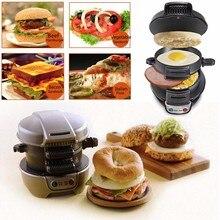 Электрический яичный сэндвич-мейкер, мини-гриль, блинница, плита для выпечки, тостер, многофункциональная антипригарная гамбургерная машина для завтрака