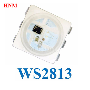 WS2813B LED Chip 5050 SMD RGB LED WS2813;Dual-signal Intelligent Control Integrated LED Light Source;Refresh Frequency 2KHz/s