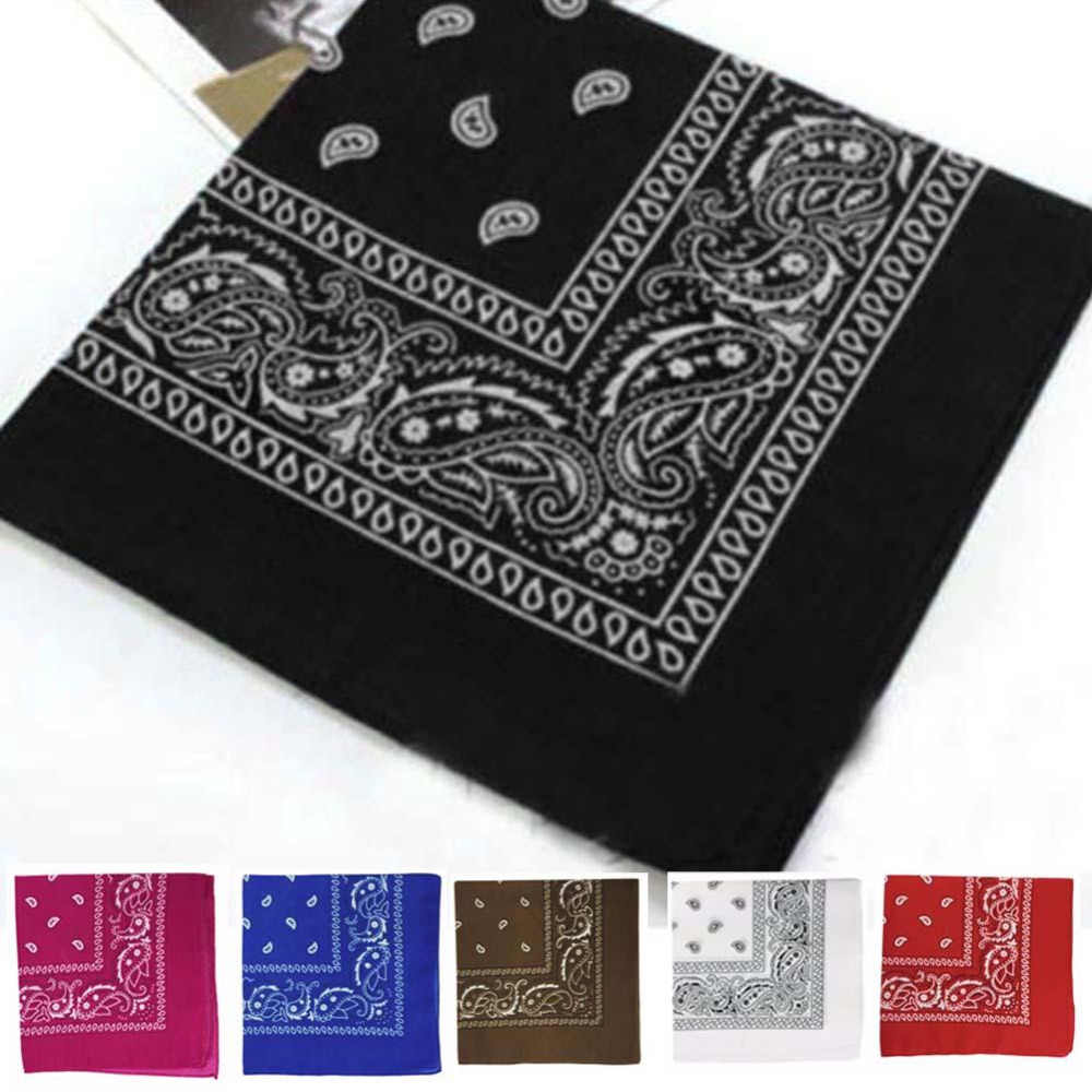 Cotton Headwear/Hair Band Scarf Cow Boy Wrist Wrap Paisley Biker Neck Head Wear Headband multicolor For Women/Mens