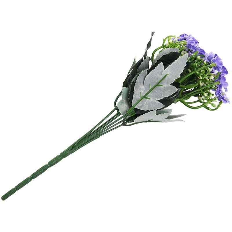 סימולציה גרברה אפריקאי קטן דייזי פרח מלאכותי עיצוב הבית אגרטל פרח מזויף משי פרח כהה סגול