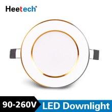 O ponto conduzido downlight conduziu a lâmpada recessed redonda 3 w 6 w 10 12 15 w conduziu a iluminação interna conduzida do ponto ac 110 v 220 v 230 v 240 v