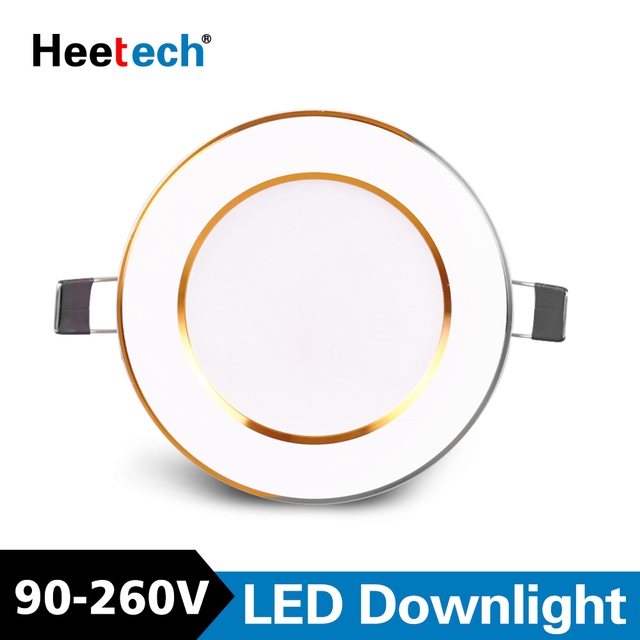 Spot Led Downlight Led Ceiling Lamps Round Recessed Lamp 3W 6W 10W 12W 15W Led Indoor LED Spot Lighting AC 110V 220V 230V 240V