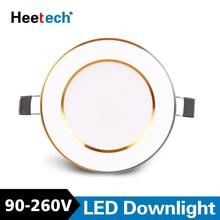 Spot Led Downlight Led tavan lambaları yuvarlak gömme lamba 3W 6W 10W 12W 15W Led kapalı LED Spot aydınlatma AC 110V 220V 230V 240V