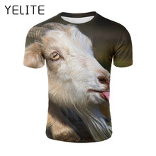 c2833f342 YELITE Sticking Tongue Out Sheep T Shirt Hipster Men Funny Animal Tshirt O- neck Summmer Wacky Casual T-shirt Short Sleeve O-neck