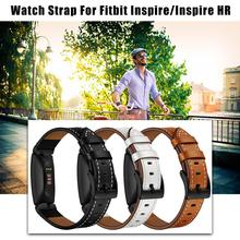Top Leather Strap Bracelet Wristband Smart Replacement Easy To Remove Watch Cowhide Strap For Fitbit Inspire Strap New