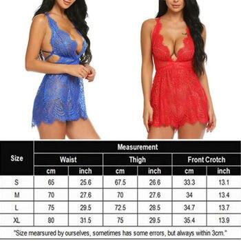 HIRIGIN Sexy Lingerie Lace Dress Romper 1