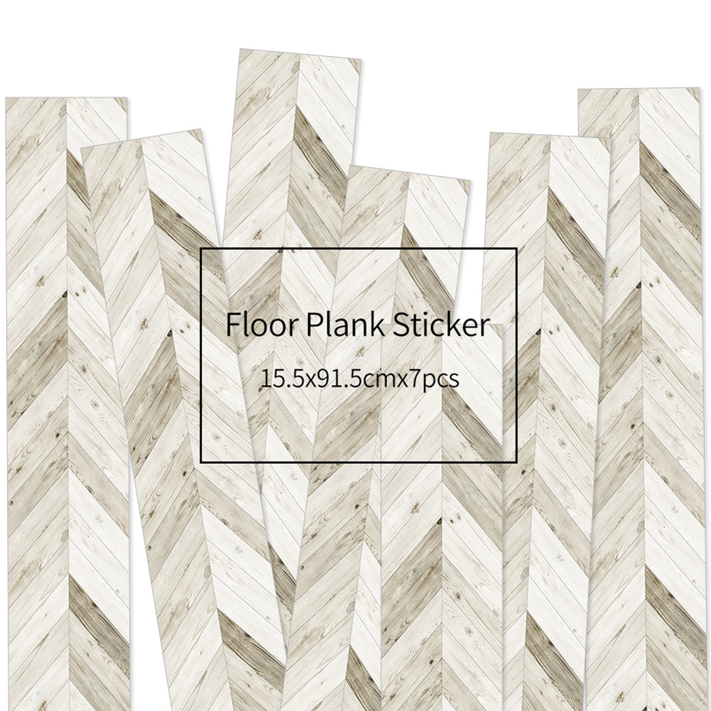HXM 7pcs Floor stickers DIY Self adhesive Wall Tile Stickers Wood Grain Frosted Film Wallpaper Kitchen Living Room Decor #7