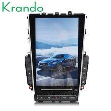 """Krando Android 8,1 12,"""" Tesla вертикальный экран автомобильный аудио радио плеер для Infiniti Q50 Q50L gps навигация Мультимедийная система BT"""