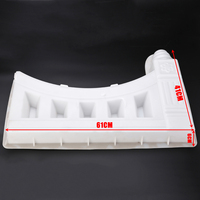 Garden White Antique Brick Mold Fence Hollow Plastic Cement Mold 61*41*6cm Courtyard Flower Pool Fence Building Supply